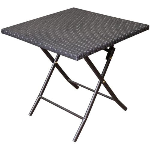 Стол квадратный «Париж», складной, цвет чёрный