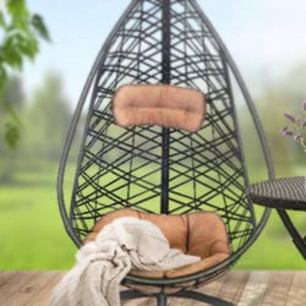 Кресло подвесное «Кения», цвет коричневый