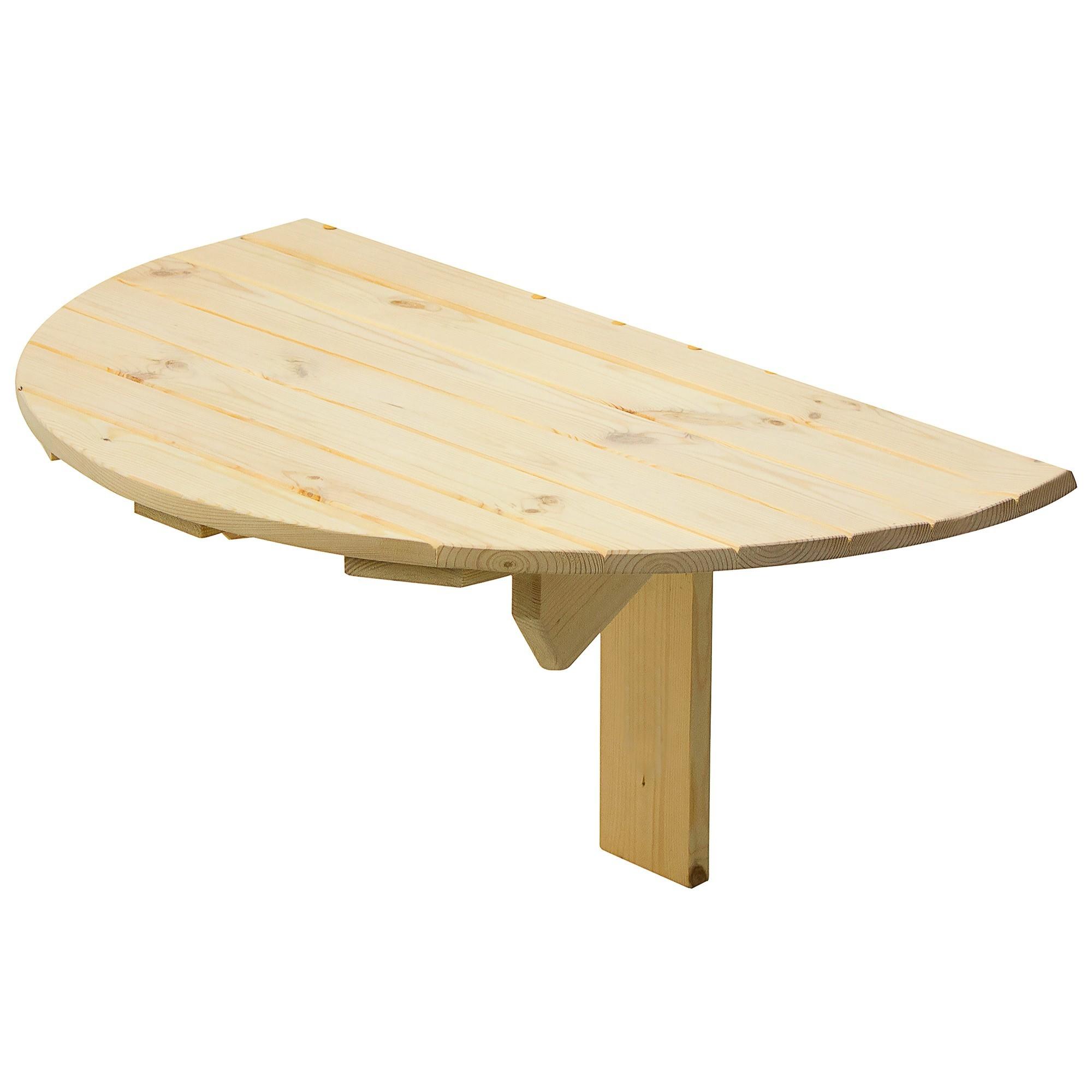 Стол навесной пристенный, откидывающийся полукруглый 80x42x50 см