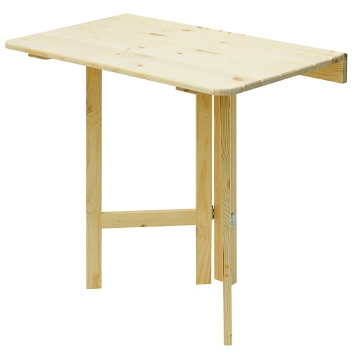 Стол навесной пристенный, откидывающийся квадратный