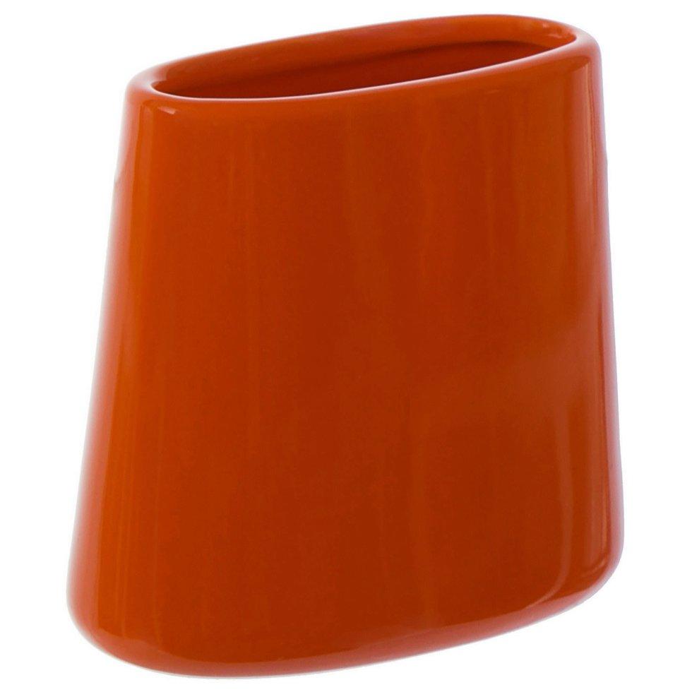 Стакан для зубных щёток настольный «Veta» керамика цвет оранжевый