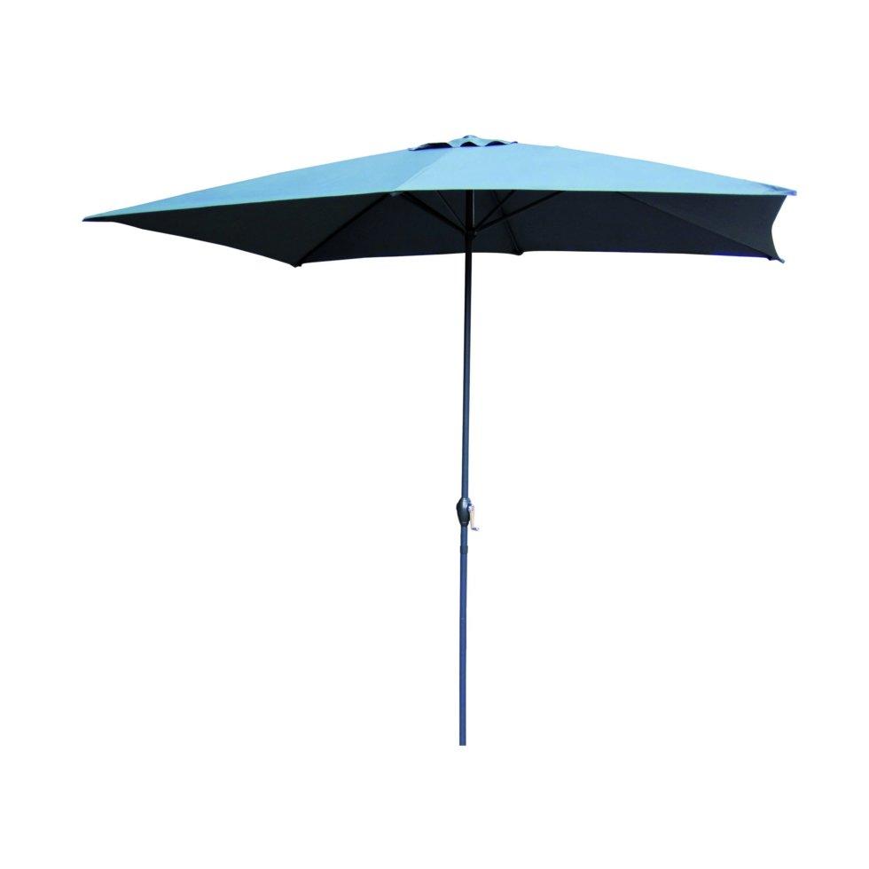 Зонт садовый на подставке, цвет серый