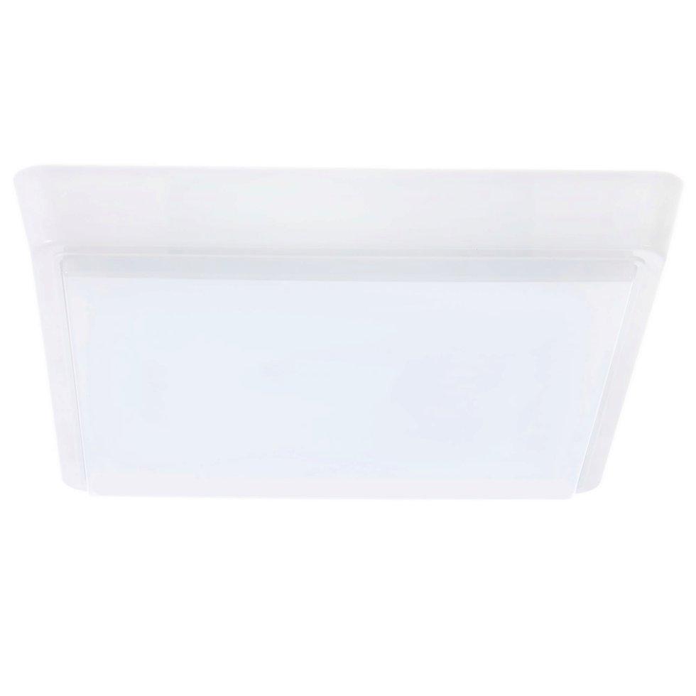 Светильник настенно-потолочный светодиодный квадратный 15 Вт 1200 Лм цвет белый