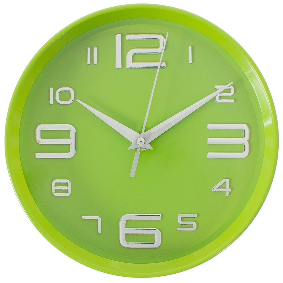 Часы настенные цвет зеленый диаметр 20 см