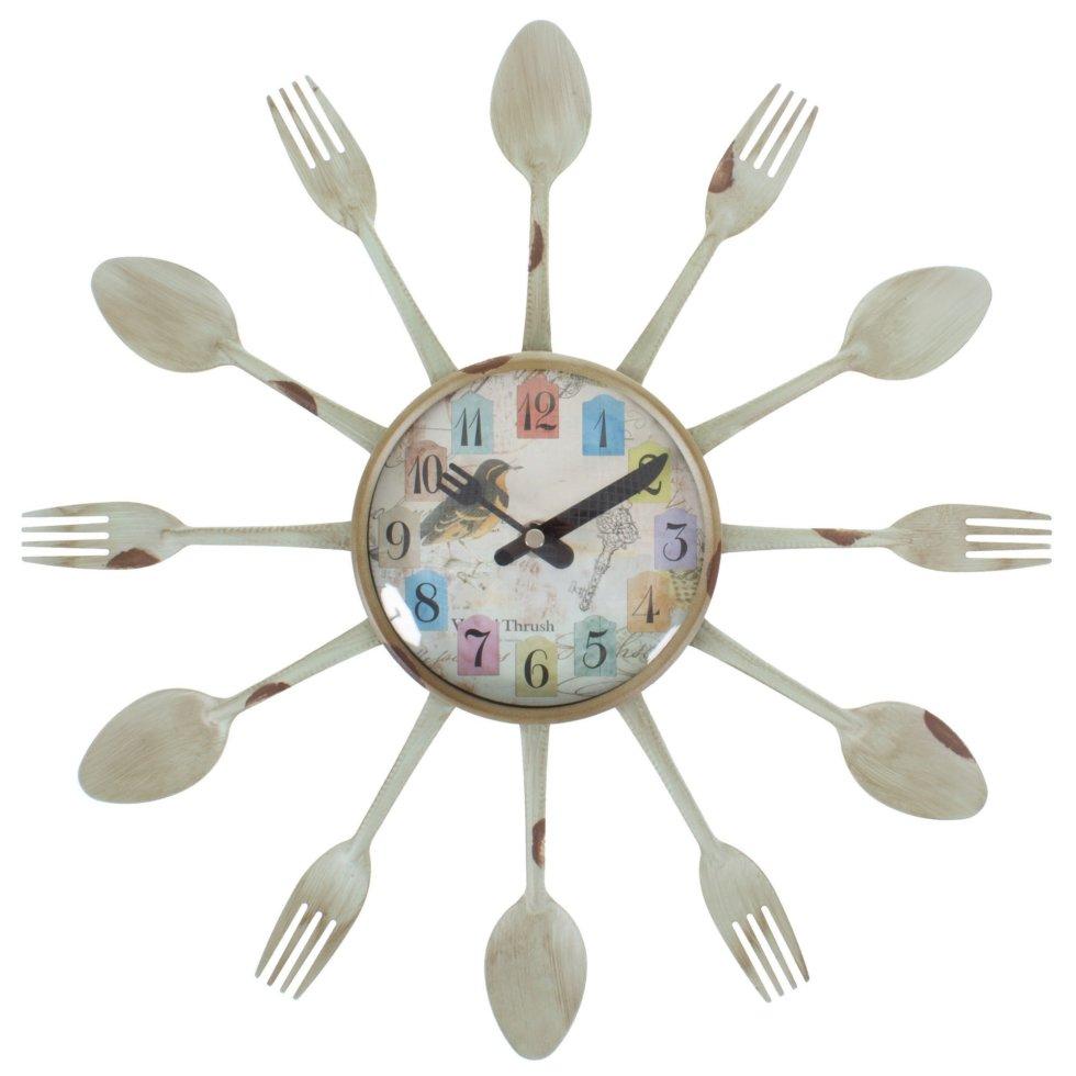 Часы настенные Ложки-Вилки диаметр 38 см