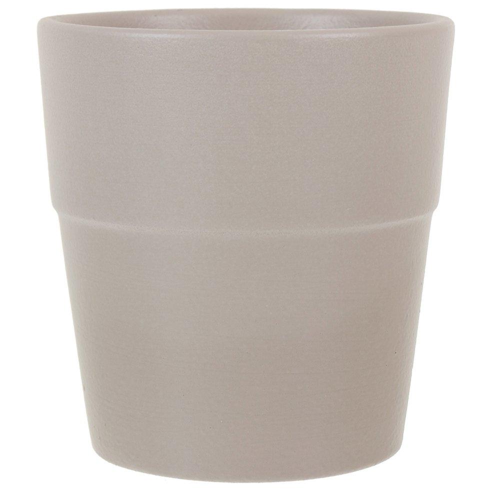 Кашпо «Стринг» конус, 0.85 л, 12 см, цвет серый