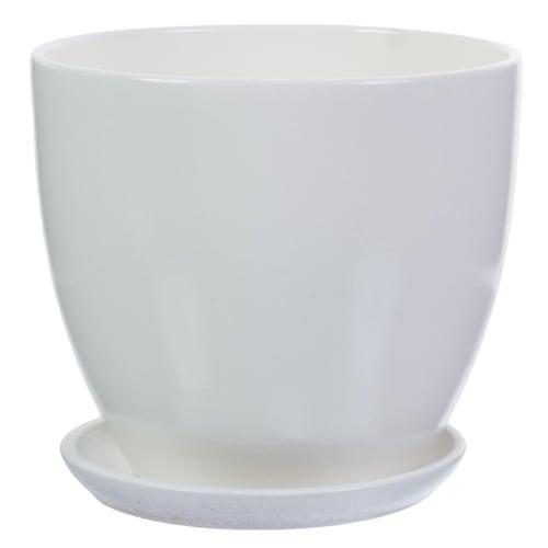 Горшок «Колор гейм» белый d18 см 2.6 л
