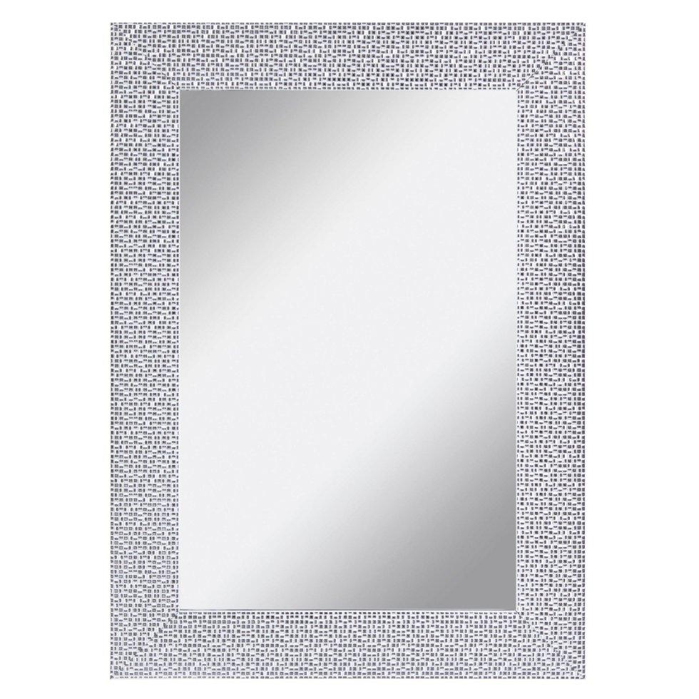 Зеркало в раме «Мозаика» 50х70 см цвет белый