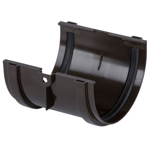 Соединитель желобов Dacha 120 мм цвет коричневый