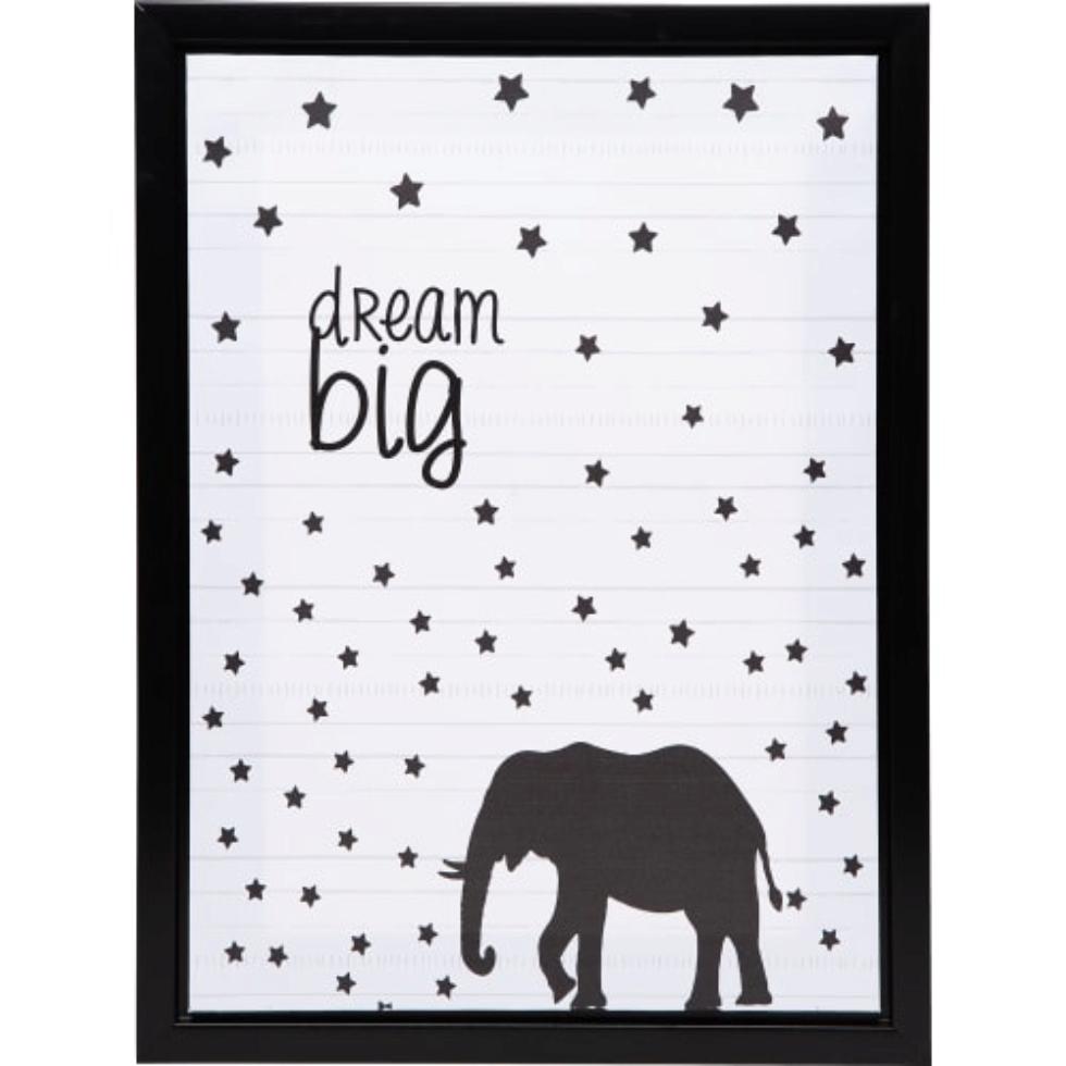 Картина на холсте в раме «Dream big» 30х40 см