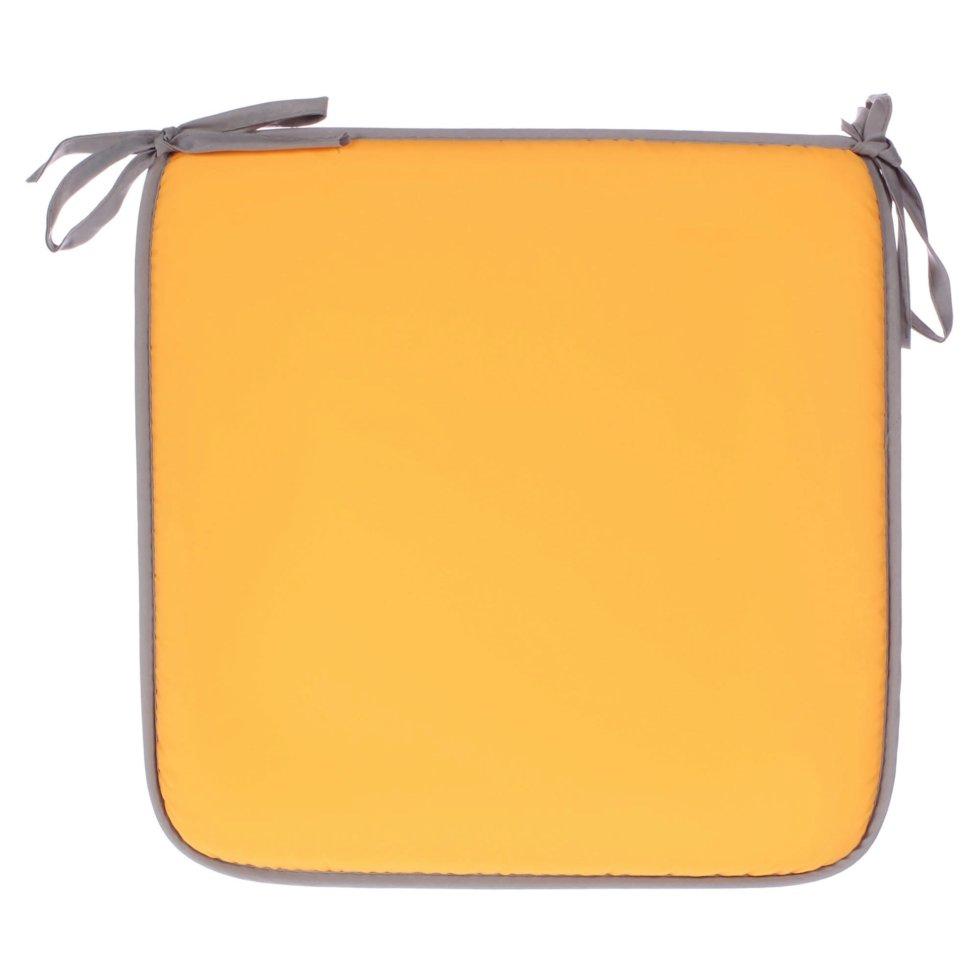 Галета для стула «Тити» 38х38 см цвет золотой-серый
