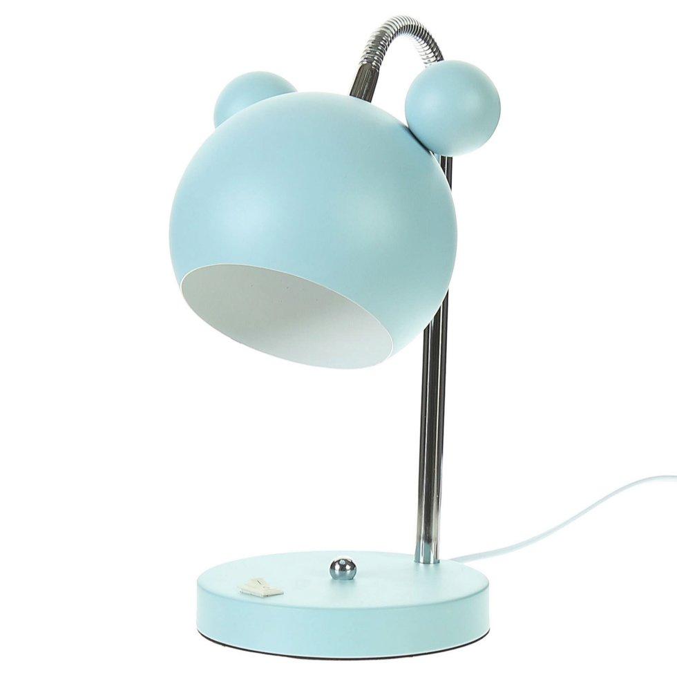 Лампа настольная Panda E27 40 Вт цвет голубой