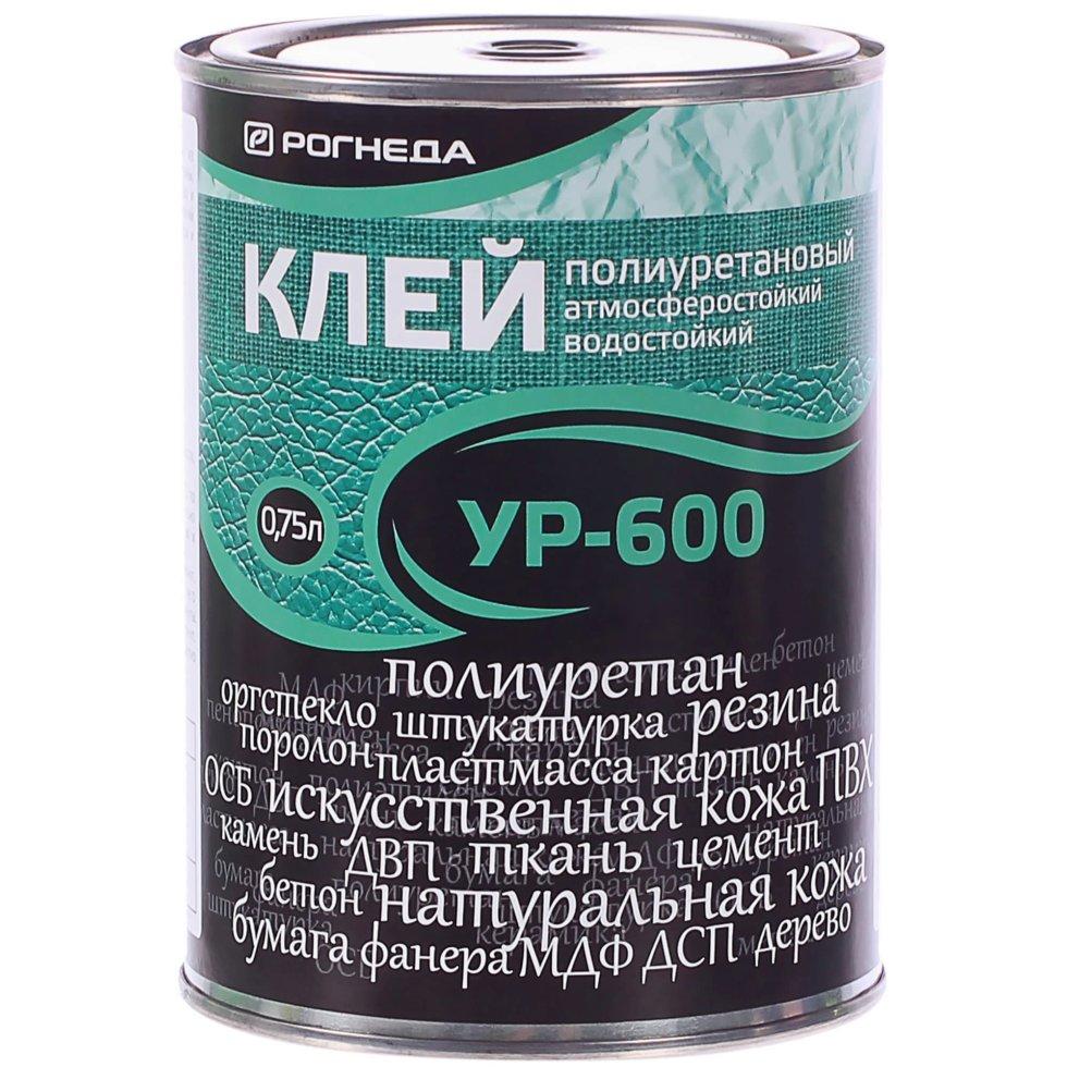 Клей универсальный УР-600, цвет прозрачный, 0.75 л