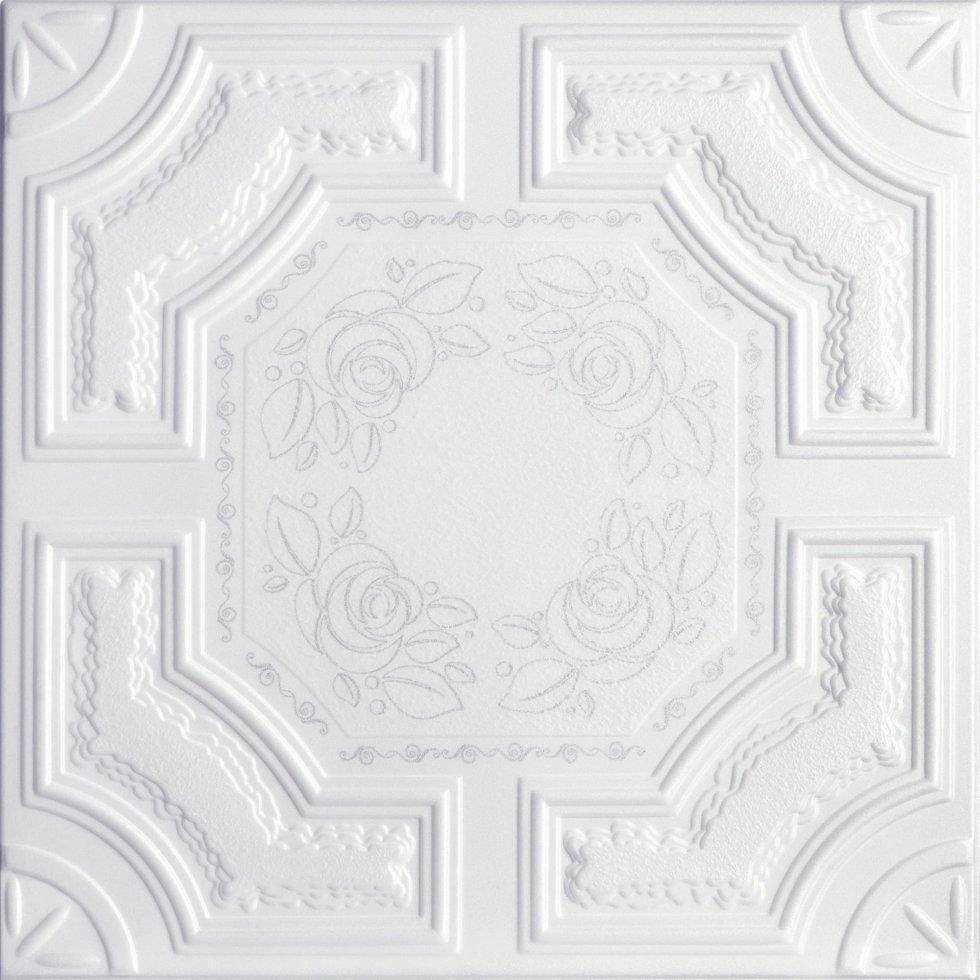 Плита потолочная «Империал» 2 м цвет жемчужный