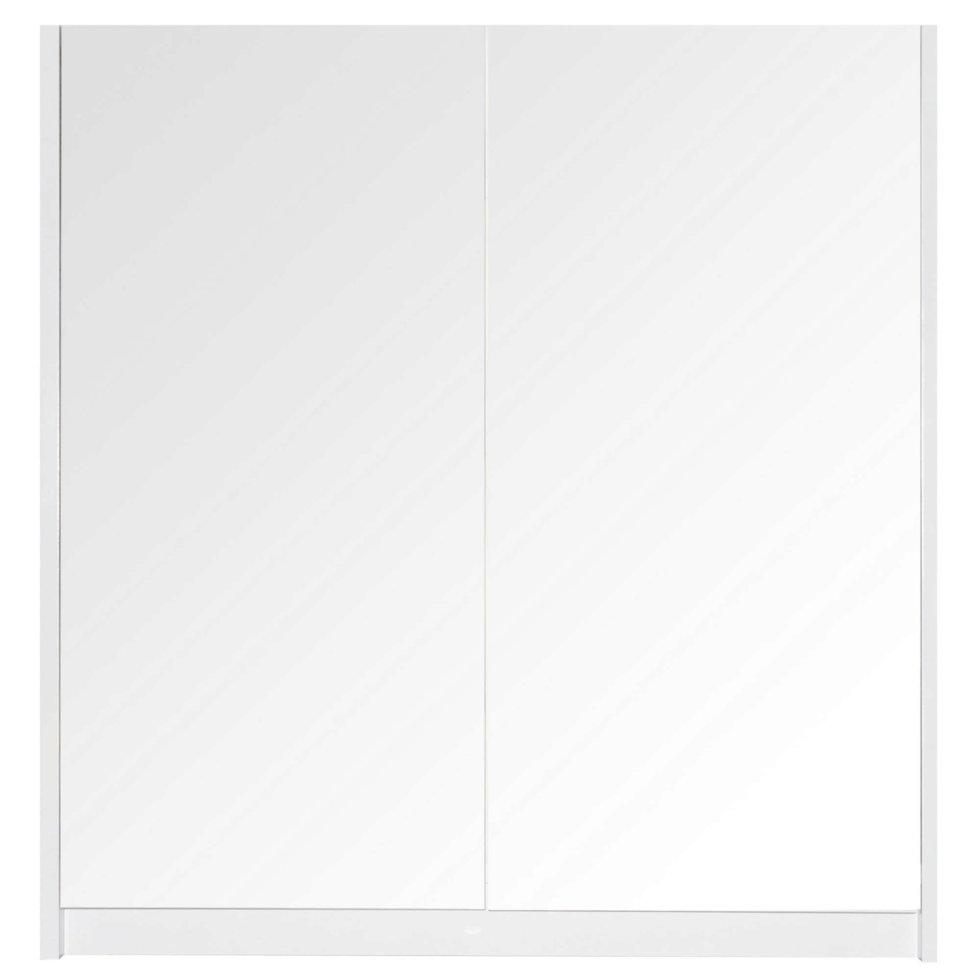 Шкаф зеркальный «Квадро» 75 см цвет белый