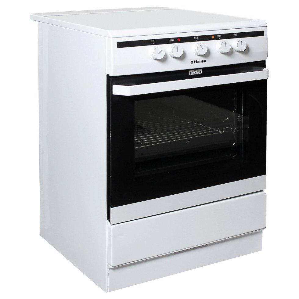 Плита электрическая Hansa FCGW63020G 60 см, стеклокерамика, цвет белый