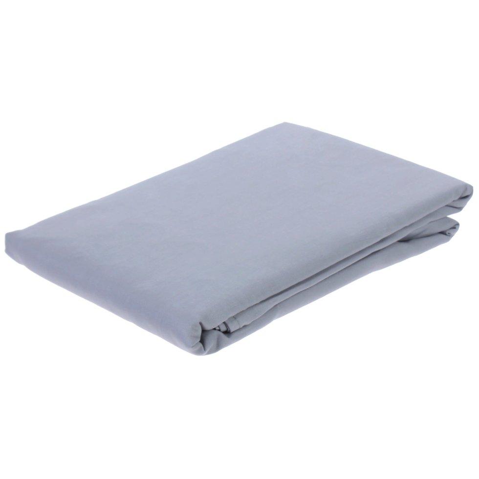 Простыня 1.5-спальная «Pearl Blue», 160х220 см, сатин