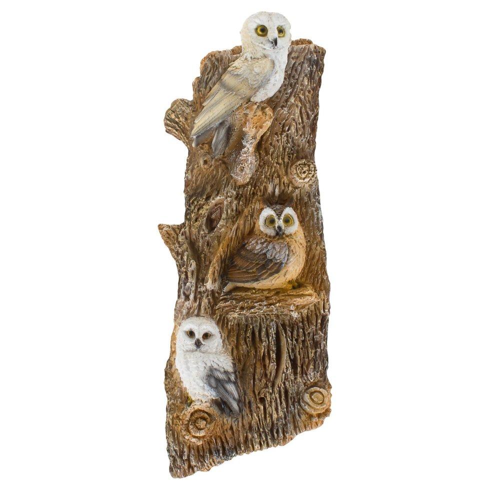 Фигура садовая навесная «Совы на дереве» h67 см