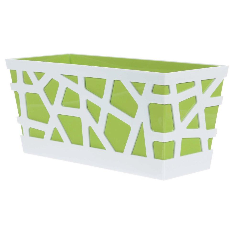 Ящик балконный «Мозаика», цвет зелёный