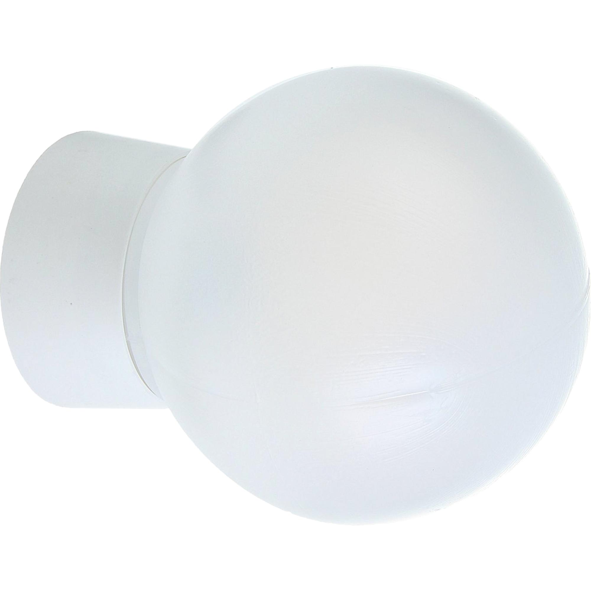 Светильник шар НББ 1хЕ27х60 Вт пластик, цвет белый
