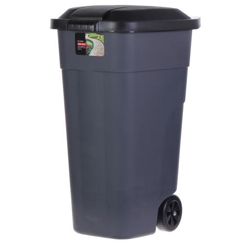 Бак для мусора на колёсах, с крышкой, 110 л