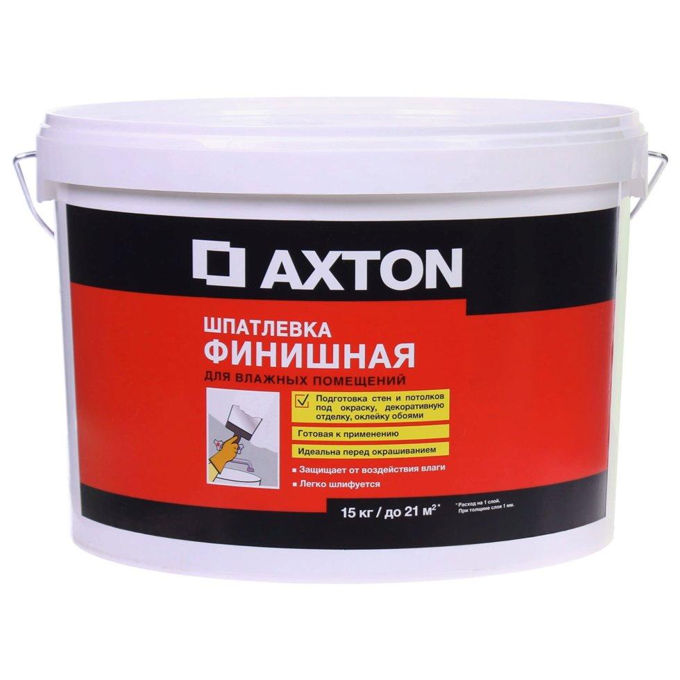 Шпатлёвка финишная Axton для влажных помещений 15 кг