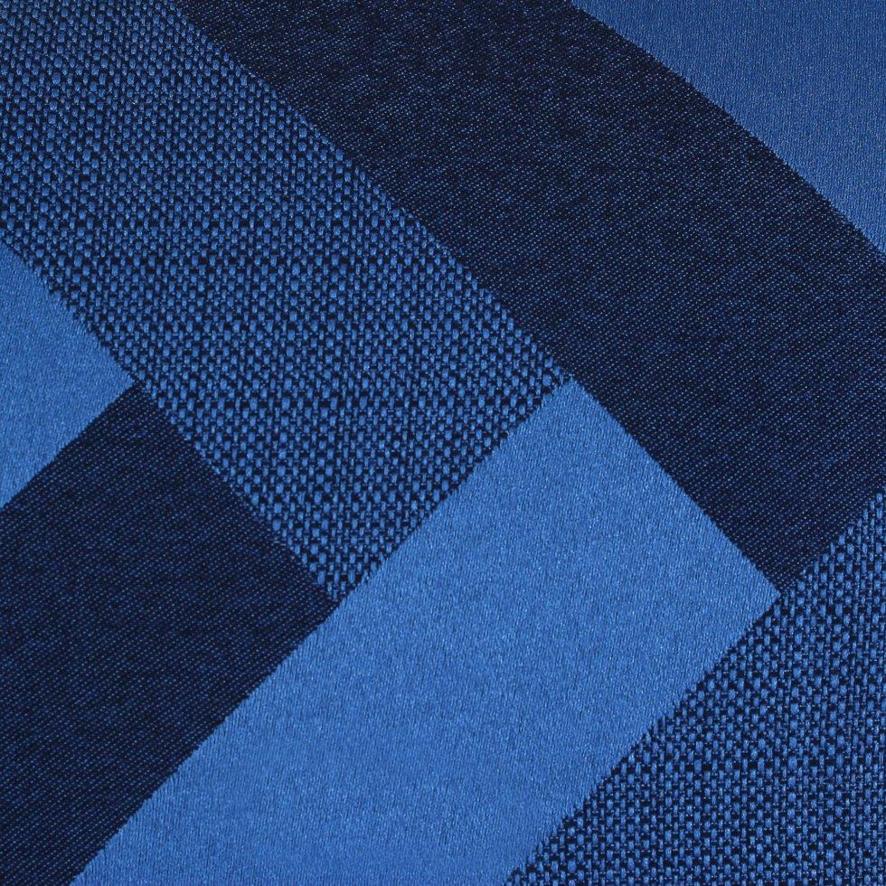 ткань жаккард «Лён» зигзаг 280 см цвет синий