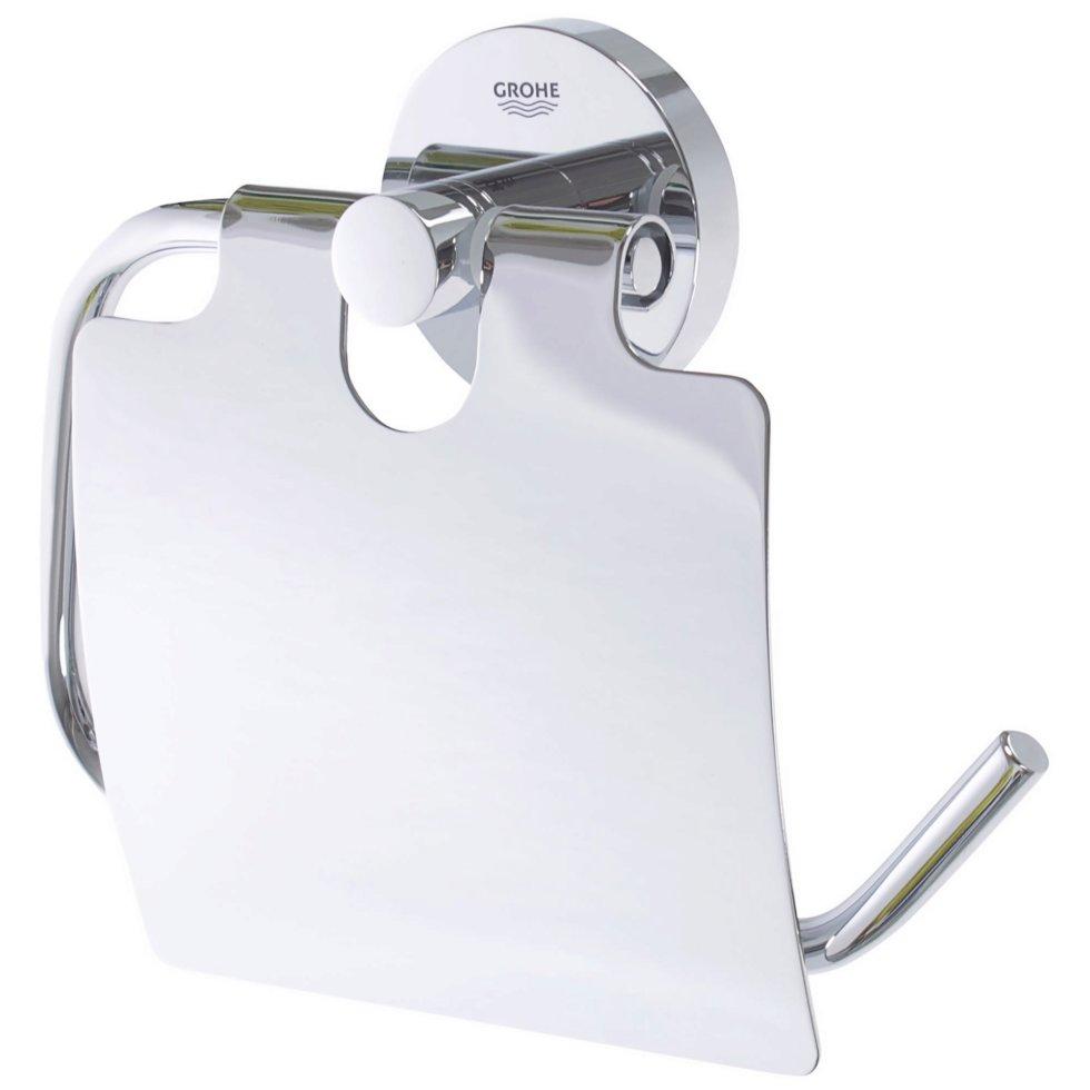 Держатель для туалетной бумаги с крышкой «Essential»