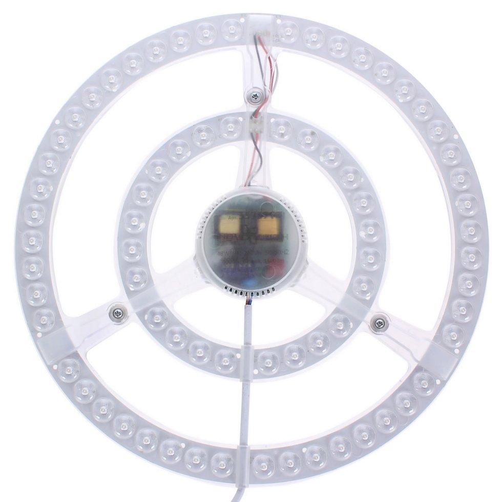 Модуль светодиодный круглый на магнитах с драйвером 48 Вт 3400 Лм, свет нейтральный