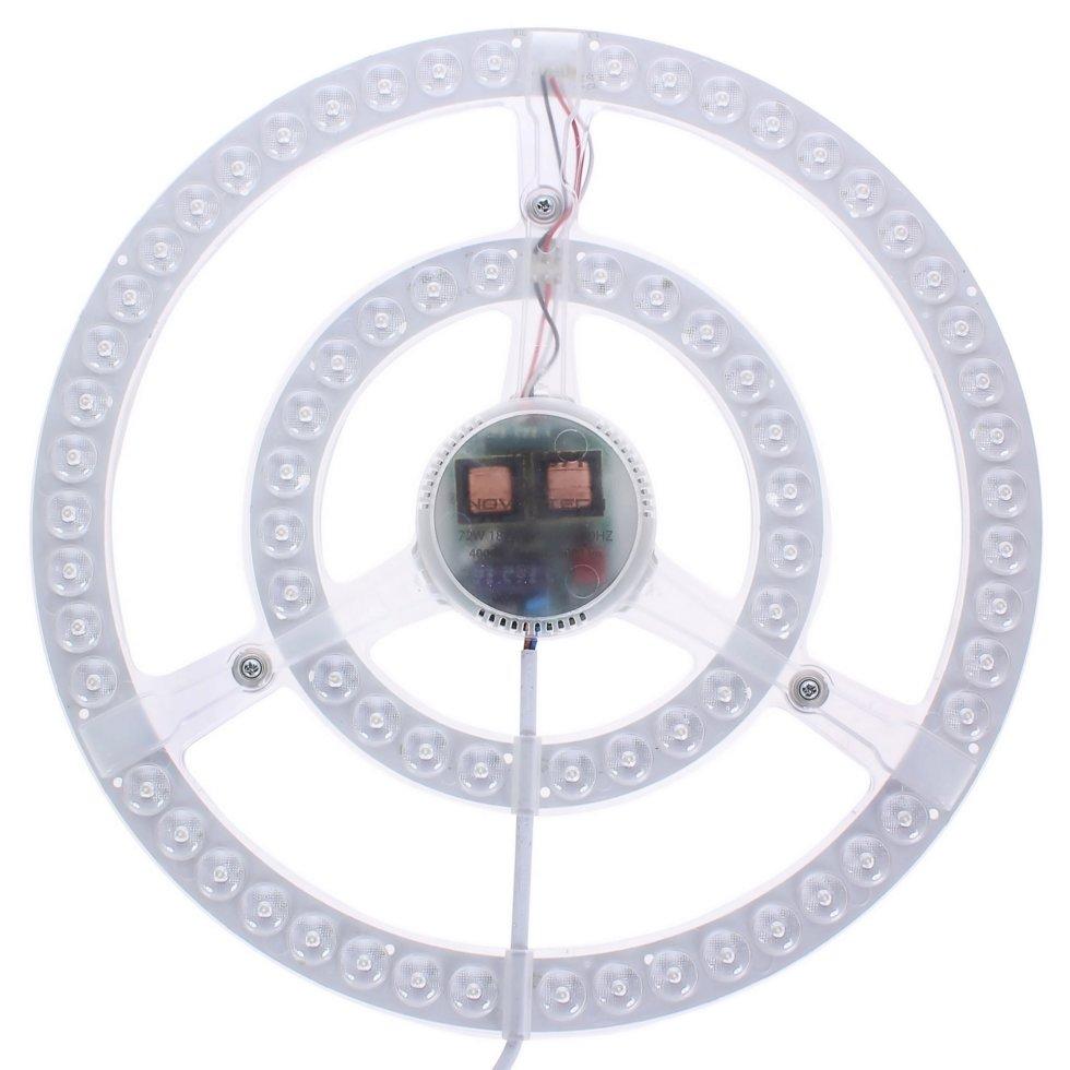 Модуль светодиодный круглый на магнитах с драйвером 72 Вт 5200 Лм, свет нейтральный
