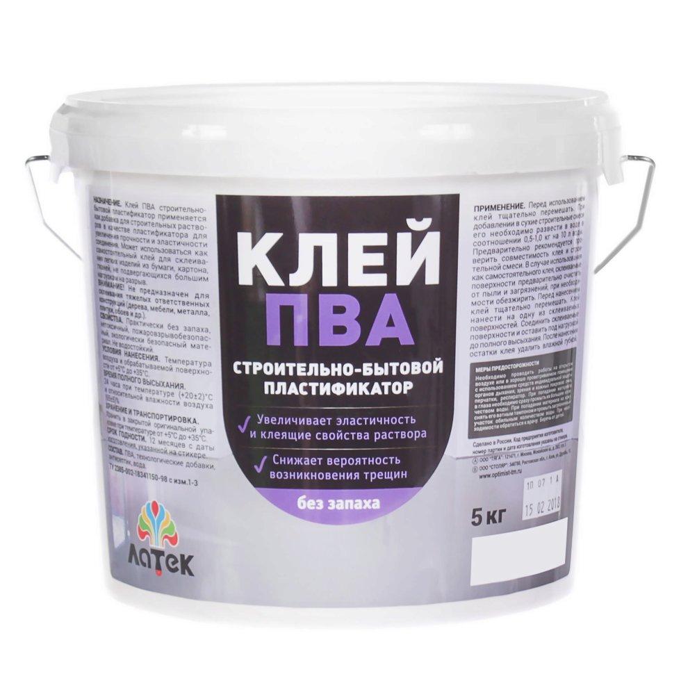 Клей ПВА для пластификации растворов, 5 кг
