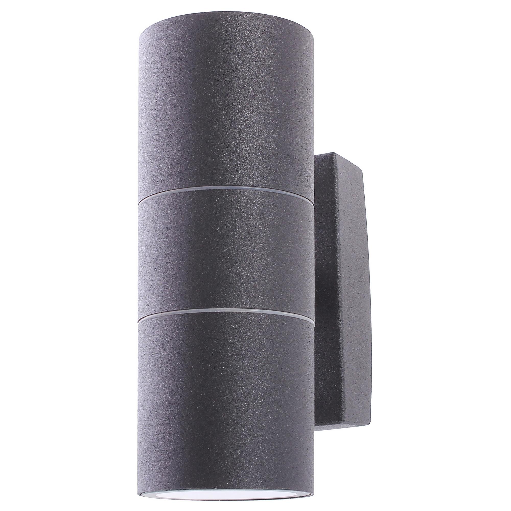 Бра уличное «Mistero» 2хGU10х35 Вт IP44 цвет чёрный металлик
