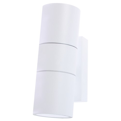 Бра уличное «Mistero» 2хGU10х35 Вт IP44 цвет белый металлик
