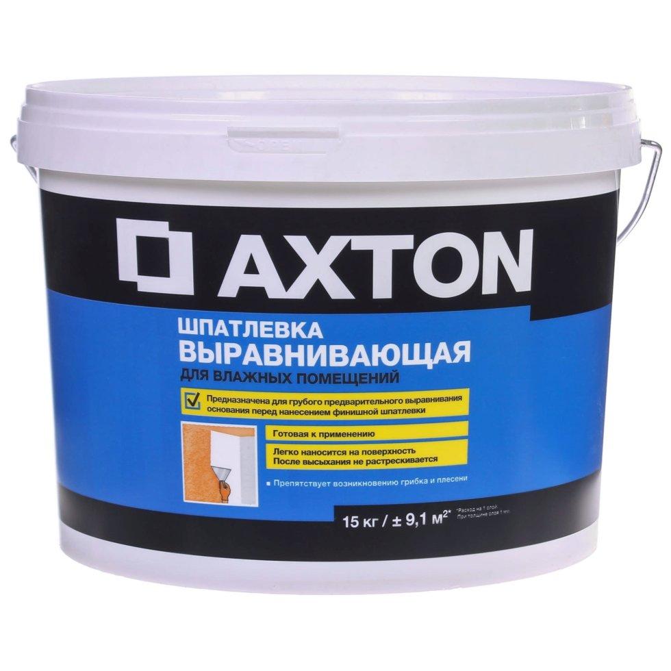 Шпатлевка выравнивающая для влажных помещений Axton 15 кг