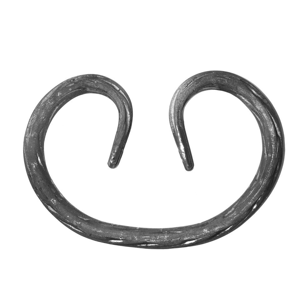 Элемент кованый завиток Лоза 125x87 мм