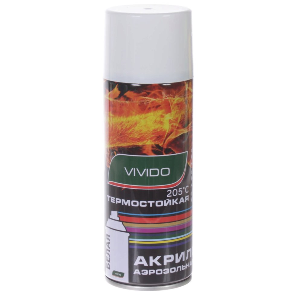 Аэрозоль Vivido термостойкая цвет белый 205с