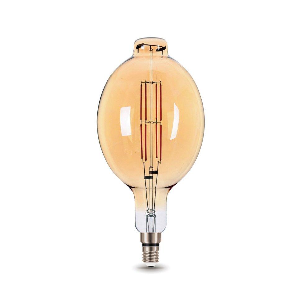Лампа светодиодная Gauss Е27 8 Вт овал прямой, свет тёплый