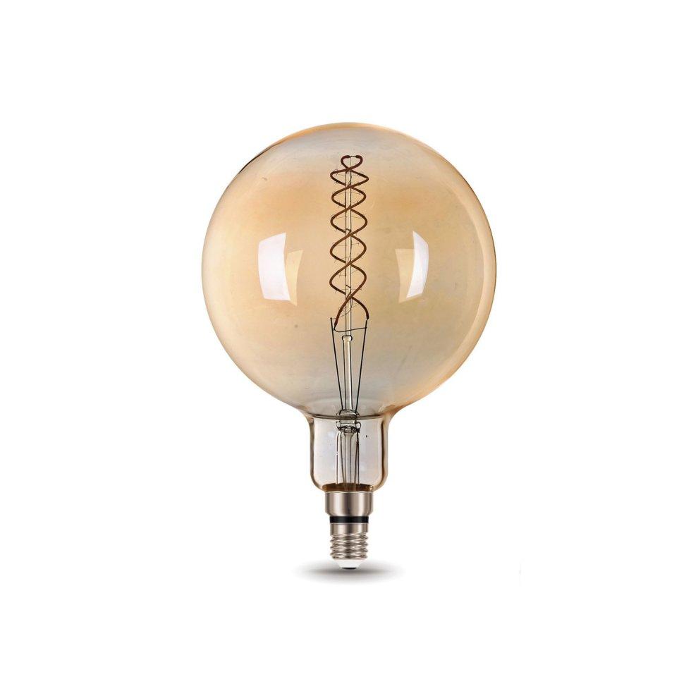 Лампа светодиодная Gauss Е27 8 Вт шар спираль, свет тёплый