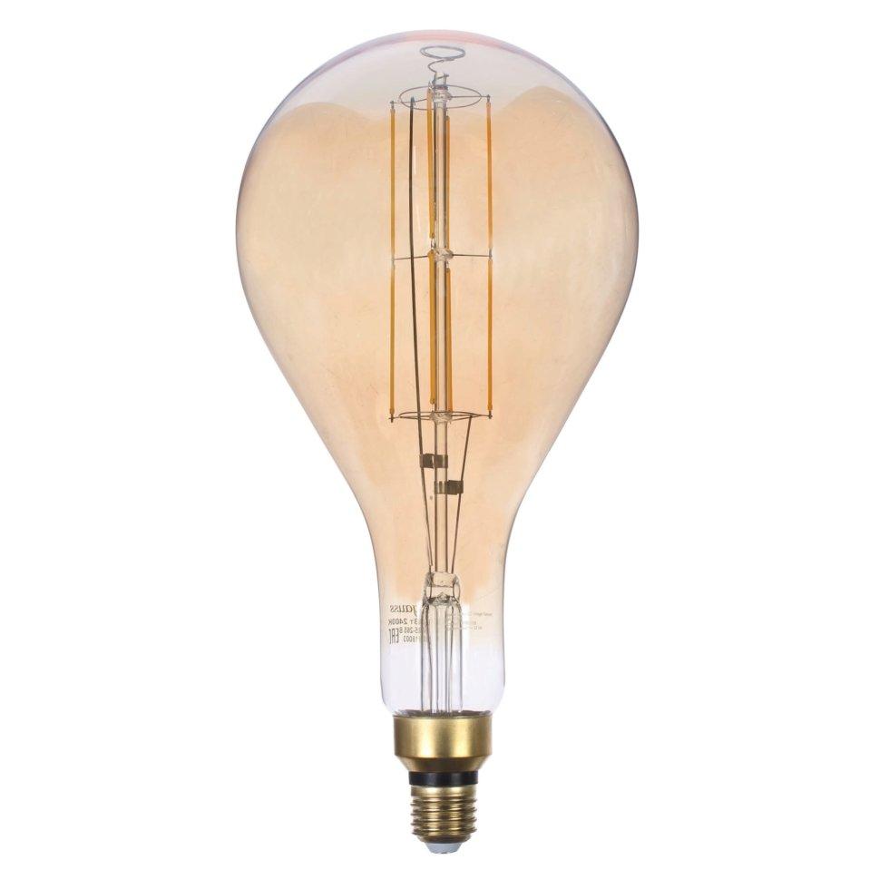Лампа светодиодная Gauss Е27 8 Вт груша прямой, свет тёплый