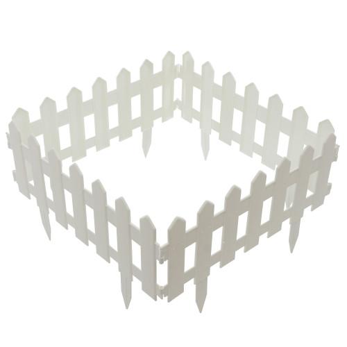 Ограждение «Палисадник» цвет белый 1.9 м