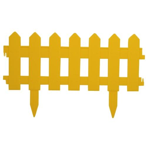 Ограждение «Палисадник» цвет желтый 1.9 м