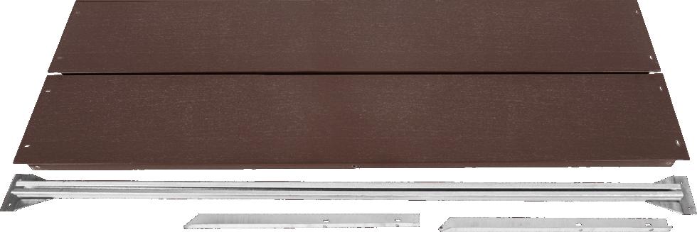 Удлинитель грядки, 1х 1 м, цвет коричневый