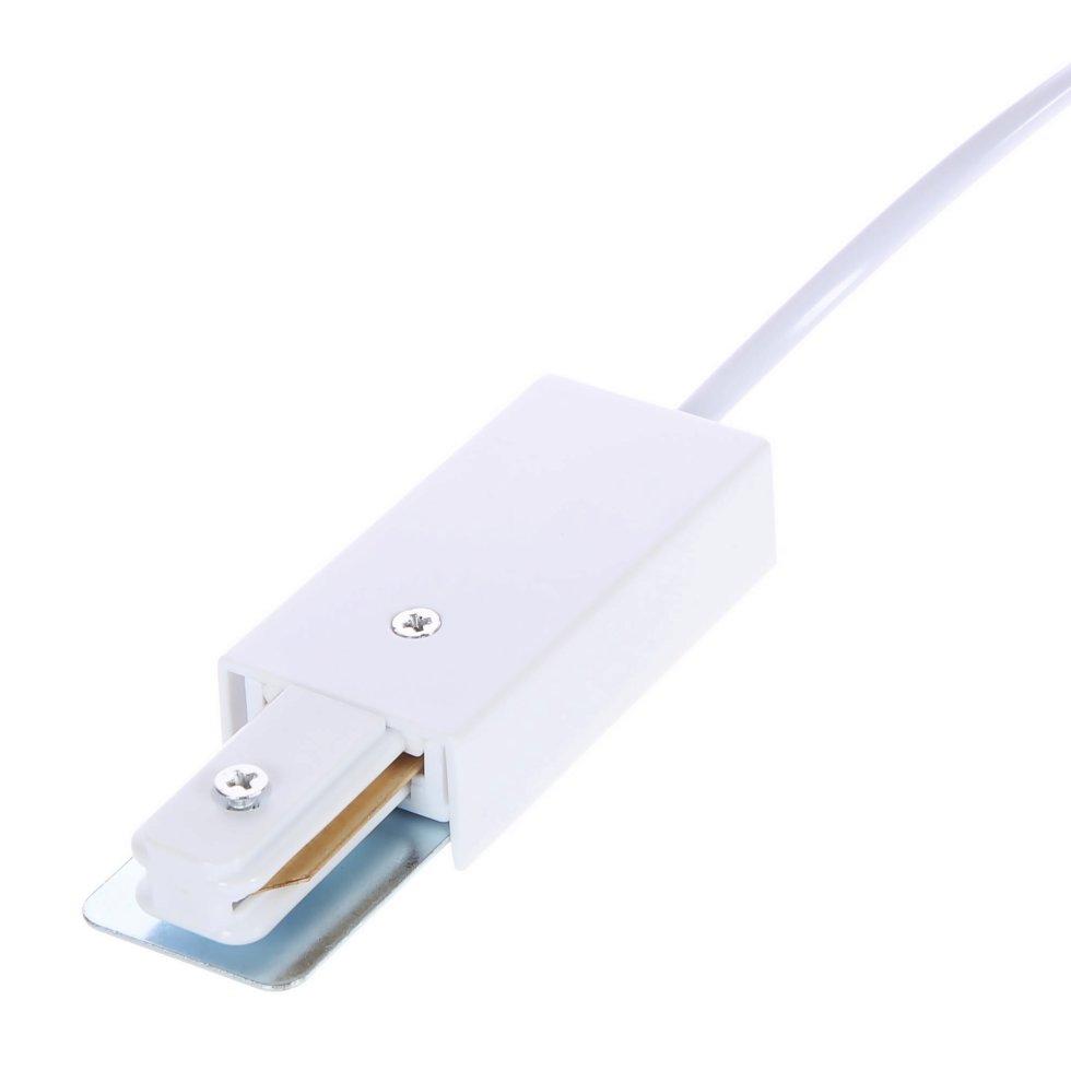 Коннектор с вилкой, цвет белый