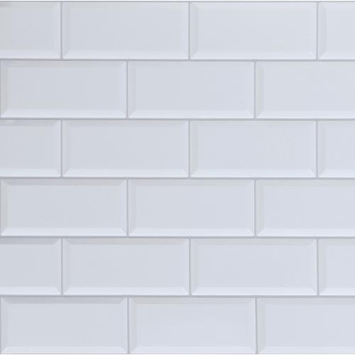 Панель ПВХ Плитка белая 966х484 мм, 0.47 м2