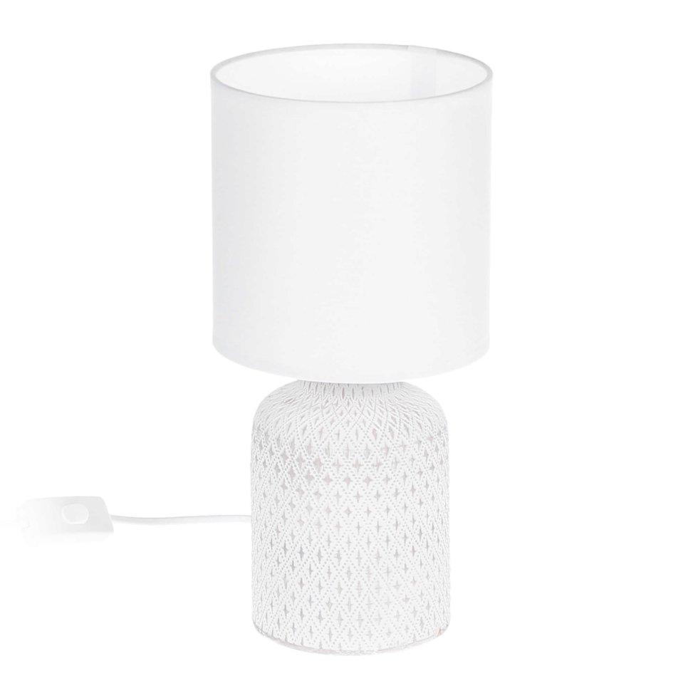 Лампа настольная «Bellariva» 1X40 ВтхE14, цвет серый/белый