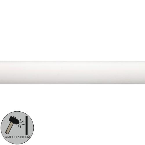 Молдинг настенный ударопрочный Decomaster А034 19х12х2000 мм цвет белый
