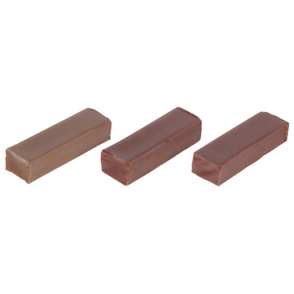 Набор мелков восковых, оттенки коричневые, 3 шт.