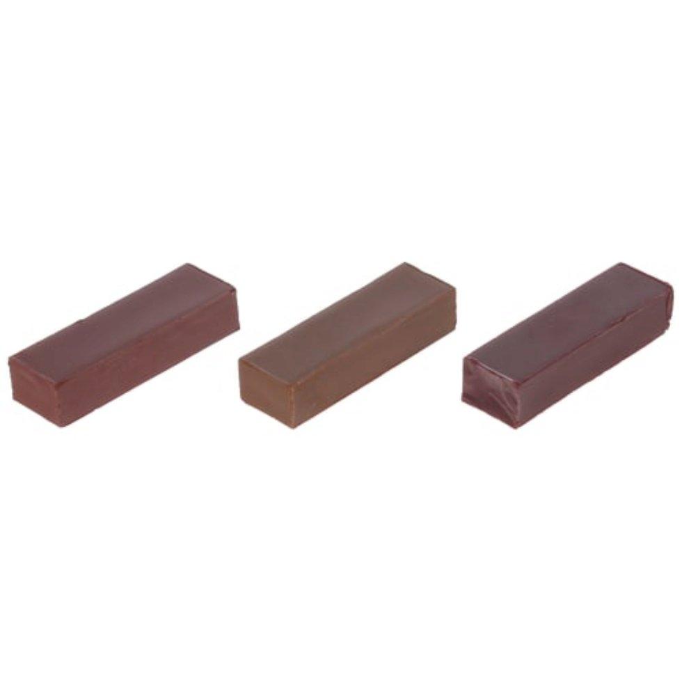 Набор мелков восковых, оттенки тёмно-коричневые, 3 шт.