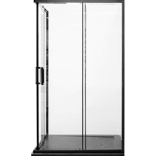 Душевая ширма Квадро Black 80х120 см