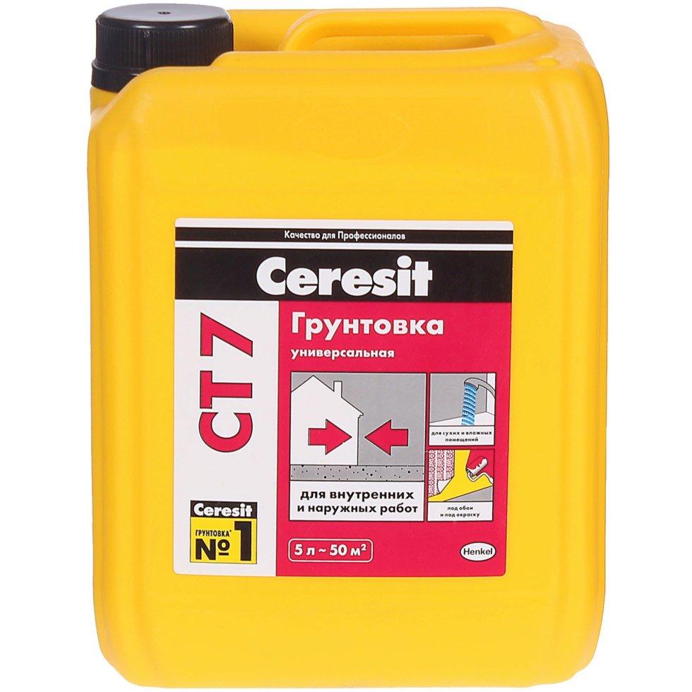Грунтовка универсальная Ceresit CT7, 5 л
